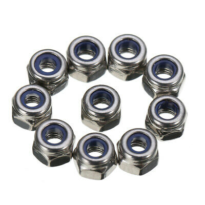 100x M3 3mm Stainless Steel Nylon Insert Locking Screw Nut Lock Hexagon Hex Nut