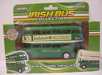 Ireland Irish Bus Scale Model Vehicle Double Decker Green Bus Diecast Metal