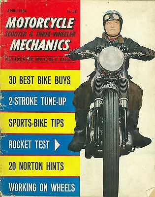 M/CYCLE MECHANICS magazine 4/64 feat. Norton Jubilee, 2-stroke tuning guide