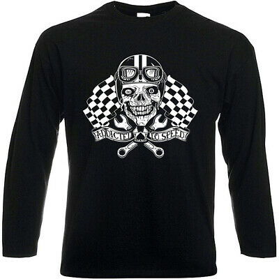 Tee shirt manches longues ADDICTED TO SPEED Motorcycle Norton BSA Café Racer