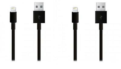 iProtect 2x Apple Lightning USB Datenkabel Ladekabel - Schwarz