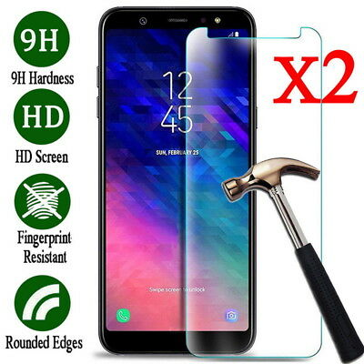 Clear Tempered Glass Screen Cover For Samsung Galaxy A9 A6 A7 2018 J5 J7 J3 2017