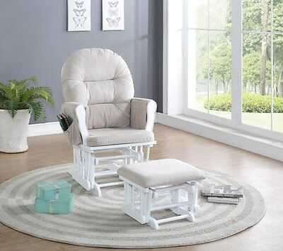 Nursing Chair Glider Rocker Ottoman Baby Furniture Rocking Seat breast feeding