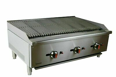 New Infernus US Style Gas Char Broiler 3 Burner Char Grill Catering 3ft / 93cm