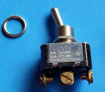 Carling Toggle Switch #2X594  (HM254-73XG)  3PDT on/off/on 10A     * NOS