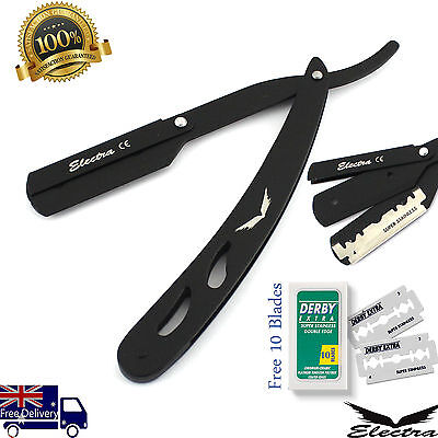 Professional razors Barber Salon Straight Cut Throat Shaving Razor black