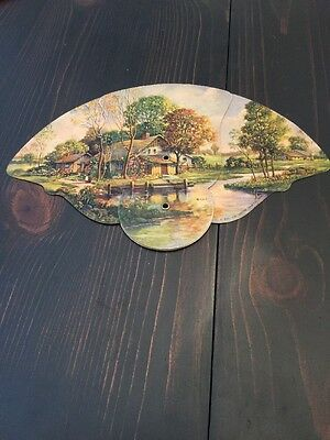 VINTAGE ADVERTISING HAND Expandable FAN Campbell Grain And Seed Co. (K)