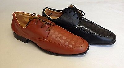 20 Pairs Mens Smart Italian Lace Up Shoes Cuban Heels Wholesale Job Lot New Size