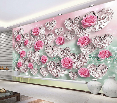 Black White Roses Love Wallpaper Flowers Floral Novelty Luxury Heavyweight