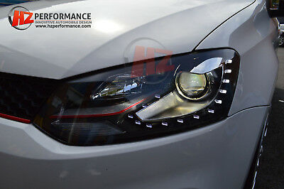 New 2010 2015 Vw Polo 6R R Line Type Red Inner Headlights X 15 Led | Headlamp