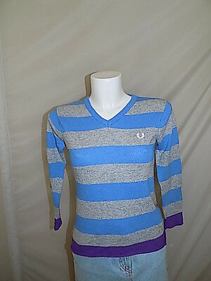 Fred Perry Maglione Sweater Pullover 10 Anni Years Bambina F7140