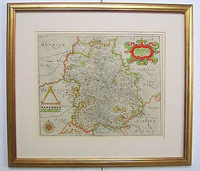 Shropshire: antique map by Saxton & Hole, 1610 or 1637