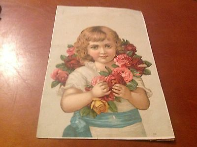 Pretty Girl Lion Coffee Woolson Spice Co Toledo Victorian Trade Card