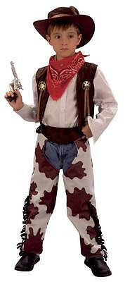 Cowboy and Cowprint Chaps (Medium),Fancy Dress Costume, Kids Book Week #AT