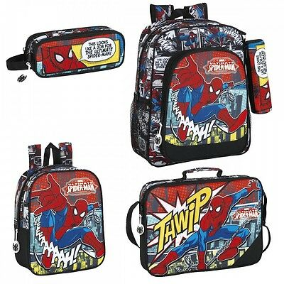 Marvel Spider Man Backpack Spiderman Rucksack School Messenger Bag Pencil Case