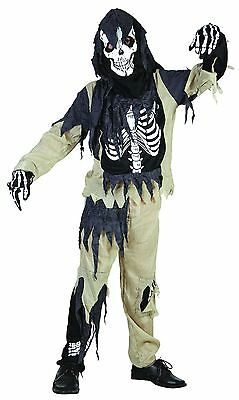 Skeleton Zombie Medium, Childrens Fancy Dress Costume #AT