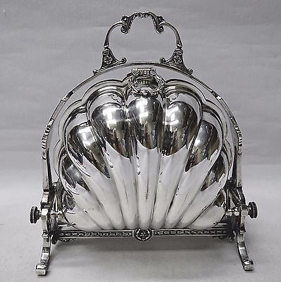 Victorian Folding Biscuit Box Silver Plated CP PARKIN Circa 1875. Stock ID 8830