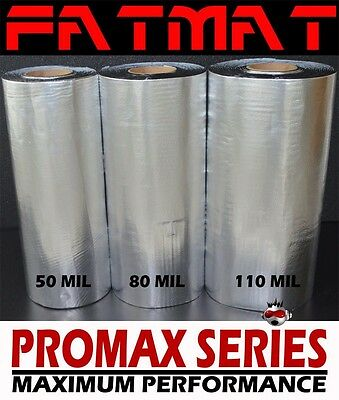New FatMat ProMax 50 Sq Ft  50Mil Sound Deadener Super Sticky Thick Dynamat SMP
