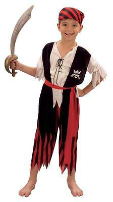 Pirate Boy Jim, Large, Unisex Childs Fancy Dress Costume, Kids Book Week #AT