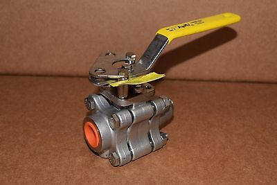 "Apollo Ball Valve 1/2"" 316Ss 1500 Cwp 3 Pc Body Full Port Lever 86A-503-A0 Cf8M"
