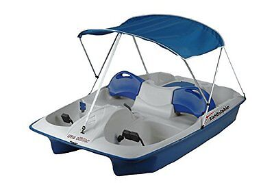 Sun Dolphin Deluxe 2 bow Canopy for Pedal Boat, Blue - FREE SHIPPING