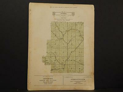 Wisconsin, Trempealeau County Map West Part of Ettrick Township 1930 Y8#12