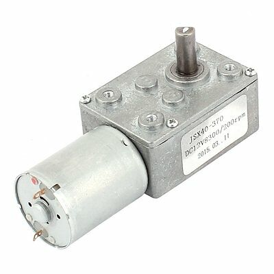 uxcell DC 12V 200RPM 6mm Shaft High Torque Worm Gear Box Reduction Motor