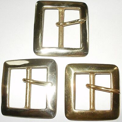 "3/"" INCH 75MM SOLID CAST BRASS FULL BELT BUCKLE"