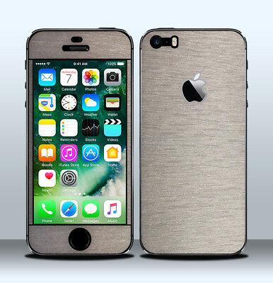 Pellicola Skin Wrap Adesivo Apple iPhone 5/5s Titanio Satinato / Satin Titanium