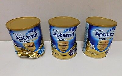 3 x Nutricia Aptamil Junior Gold Plus Nutritional Supplement Stage 1 & 4