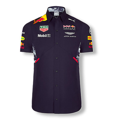 Red Bull Racing 2017 Mens Teamline Shirt - size S - SHIPPING IN 24 HOURS!