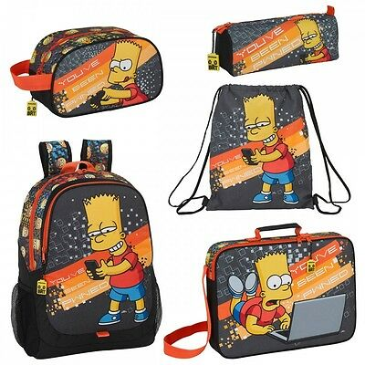 Bart Simpson Pwned Backpack Rucksack School Travel Wash Boys Mens The Simpsons