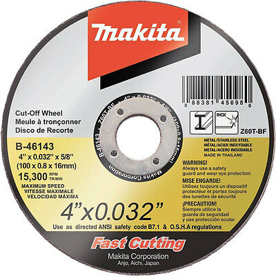 Makita B-46143-25 4-inch 60-Grit Ultra Thin Cut-Off Grinding Wheels, 25-Pack