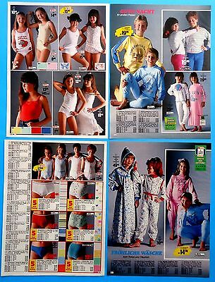 Kids Boys Girls Underwear Pajamas Catalog Clippings 1987-1988 Ad print 11 pages