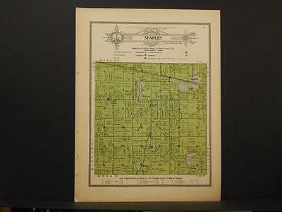 Minnesota Todd County Map Staples Township    c1914  Y8#48