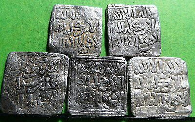 LOS ALMOHADES Lot 5 coins  DIRHEN   Silver  Without mint