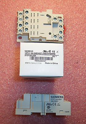 Qty (2) 3Tx7144-4E9 Siemens 14 Pin Relay Sockets 16A 300V Nib