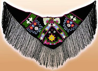 Beautiful Uzbek Handmade & Homemade Natural Woolen Shawl Scarf Poncho T886
