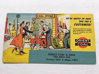 Collectible Ink Blotter   Orient Coal     Advertising    St. Louis Address