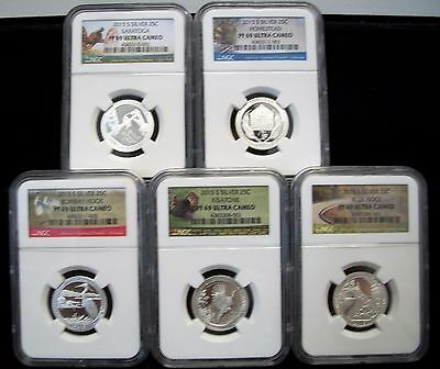 2015 S Silver Quarter Proof Set NGC PF69  National Parks
