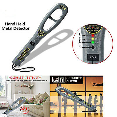 Portable HandHeld Metal Security Detector Super Scanner Meter Bounty Lightweight