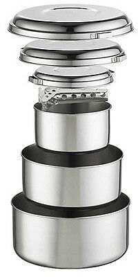 MSR Alpine 4 Pot Set- Stainless Steel 6 pc with Pot Grips