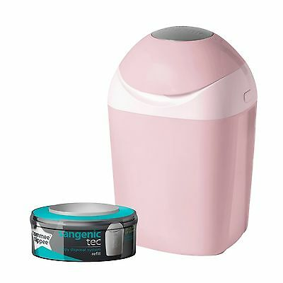 Tommee Tippee Sangenic Tec Nappy Disposal Tub (Pink) Pink