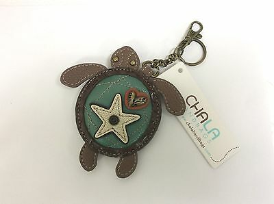 Chala  Sea Turtle Key Chain Charm FOB Ring Coin Purse New