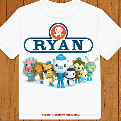 The Octonauts Happy Birthday tee - Personalized Pick Name/Age - Birthday T-Shirt
