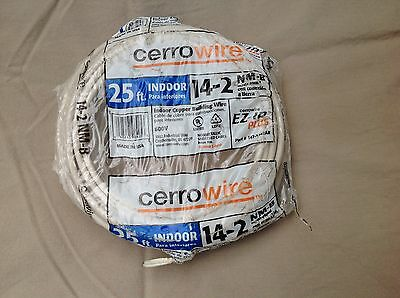 Cerrowire 14-2 NM-B Indoor Copper Building Wire 25 Ft Cerro