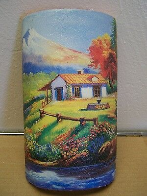 Artistic Print on Tile - Countryside Scene - Mexico