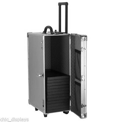"""Large Aluminum Carrying Case Jewelry 16 3/8""""W x 9 3/8""""D x 26""""H"""