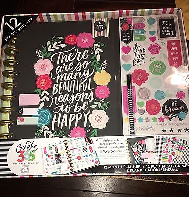 NEW Create 365 The Big Happy Planner Box Kit, Flower Pop