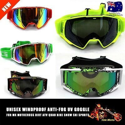 Tinted Len Motocross Dirt Bike Adult GOGGLES MX ATV Racing SKI SNOW UV Protect